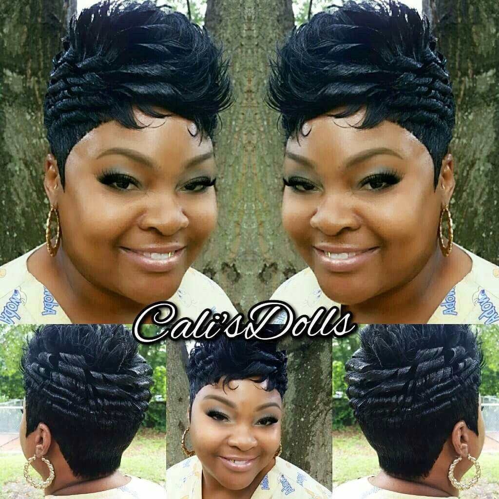 hard curls | cute short do'$ in 2019 | short quick weave