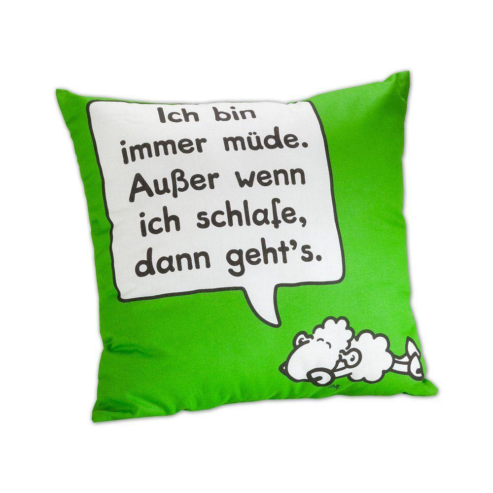 Sheepworld 42035 Bw Kissen Wortheld Sheepworld Schlafen Immer Mude
