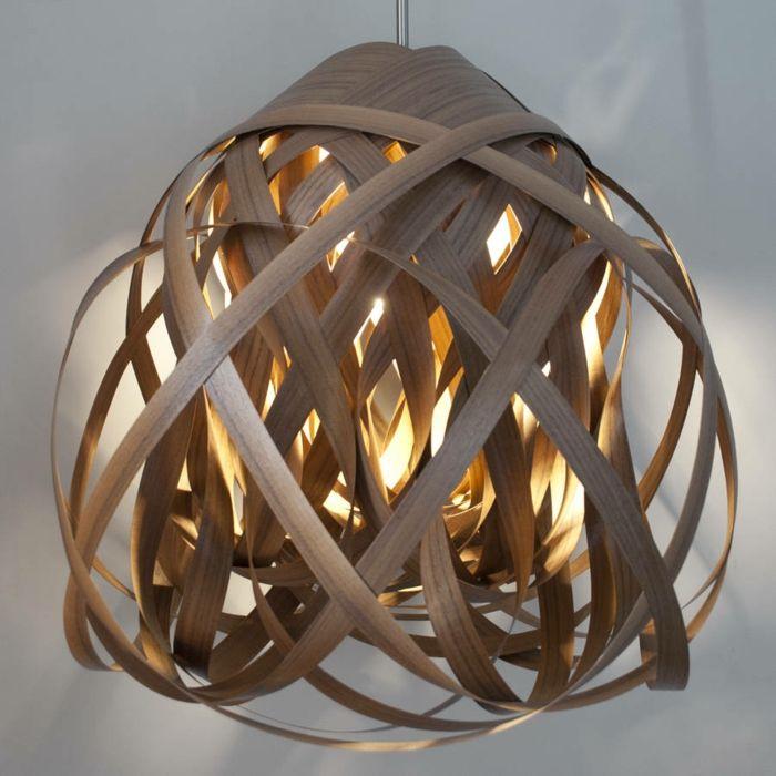 Pendelleuchte Vogelnest Design Hänge-Leuchte Decken-Lampe Kronleuchter
