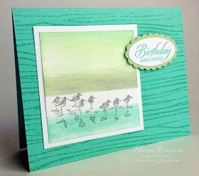 Elaine's Creations: Wetlands Ink Dragging Birthday Cards