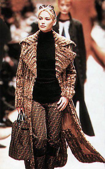 1996 Fendi Furs Fashion Magazine Print Ad: FENDI Fall Winter 1996 1997 Milan