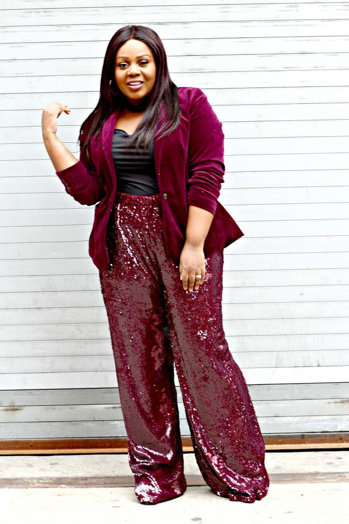 a4f105f0bc5 How To Wear Sequin Pants Without Looking Overdressed  boohooofficial sequin  pants