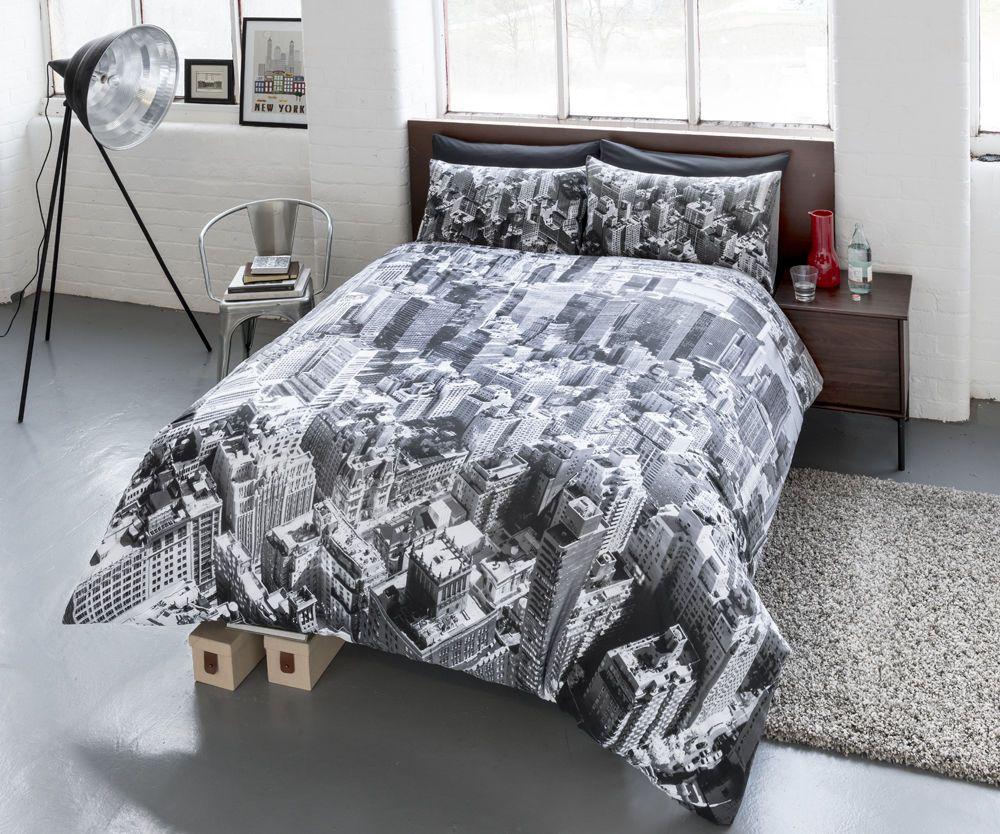 New York Duvet Cover Set /& Pillow Cases Single Double King Super King All Sizes