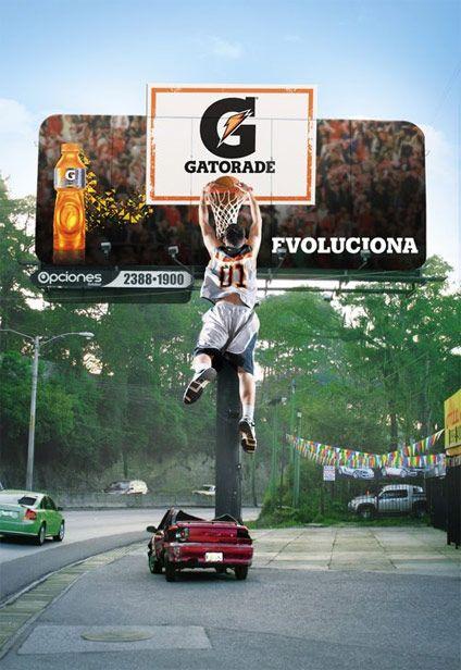 """Marzo 2012. Gráfica """"Evoluciona"""" para la marca Gatorade de el taier / tribu DDB."""