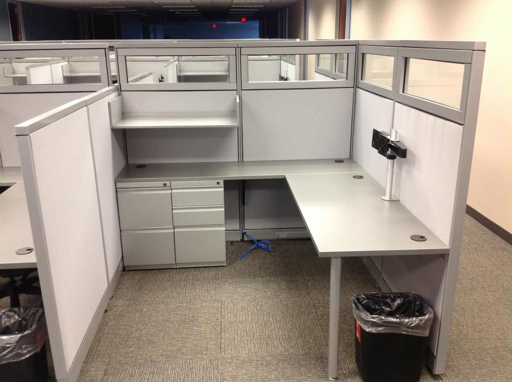 these are very nice refurbished steelcase cubicles from one of our