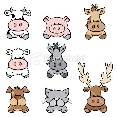 Sketched Farm Animals Gradient Free And Esy To Change Colour Animal Clipart Farm Animals Clipart Black And White