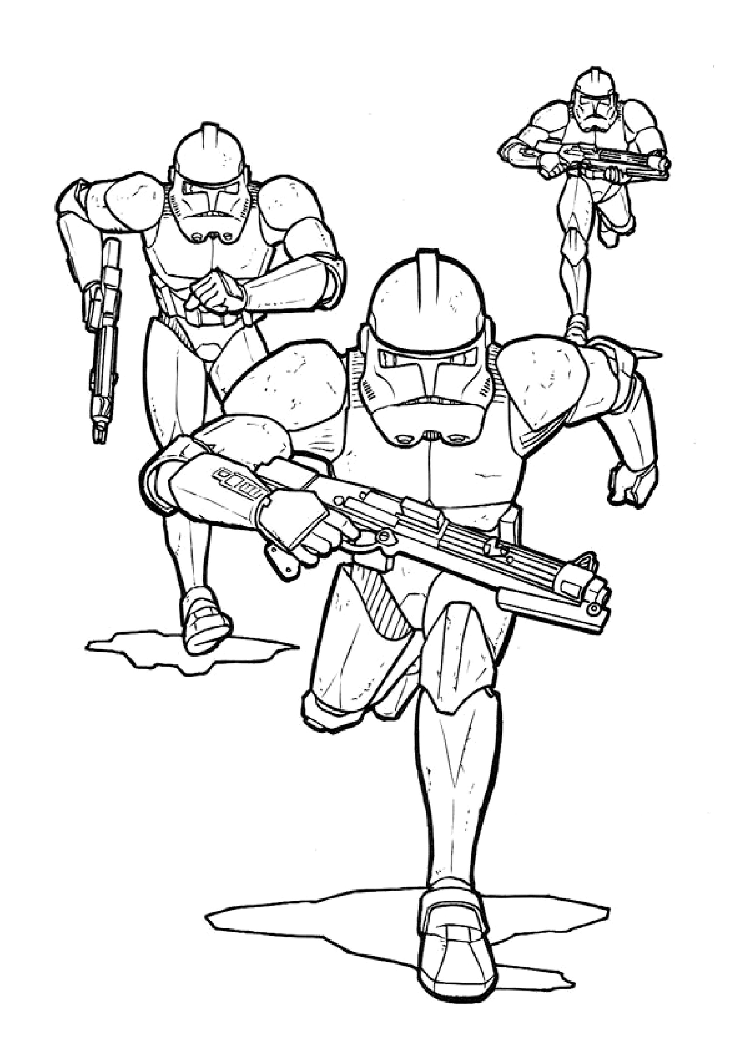 Free clone trooper coloring pages - Clone Trooper