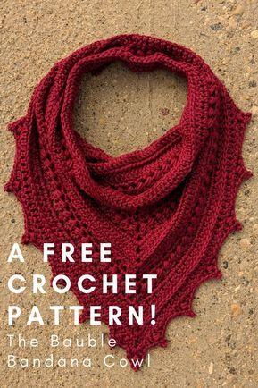 The Bauble Bandana Cowl - Free Crochet Pattern