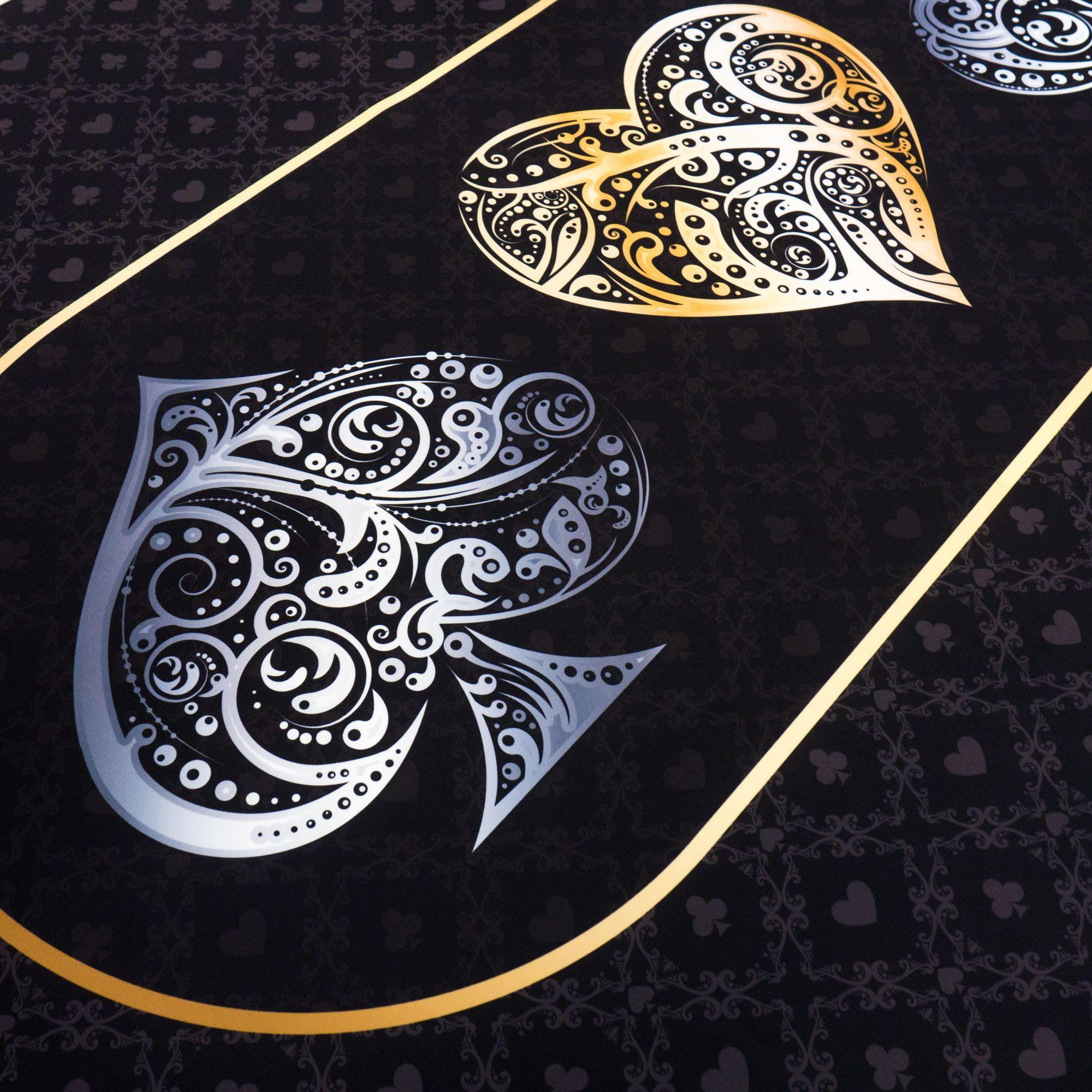 Slick graphics on this custom table felt Design your custom