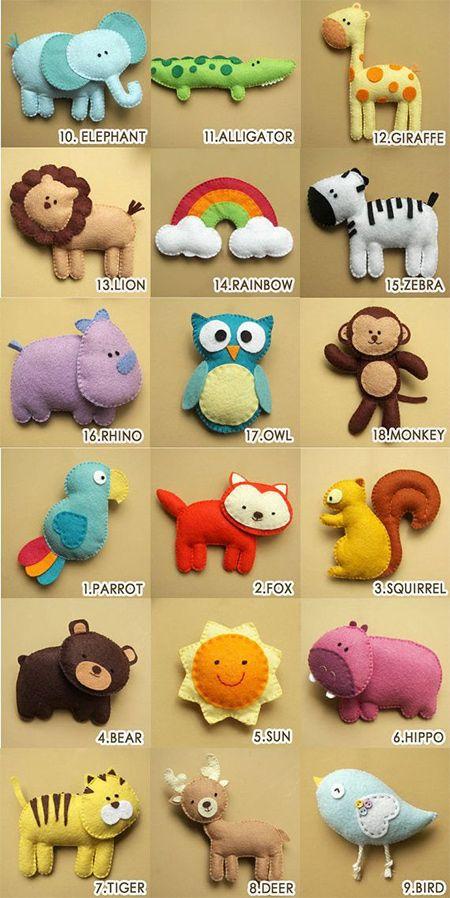 Ideas For Felt Nursery Mobile Animal Nursery Mobile Felt Toys Felt Mobile