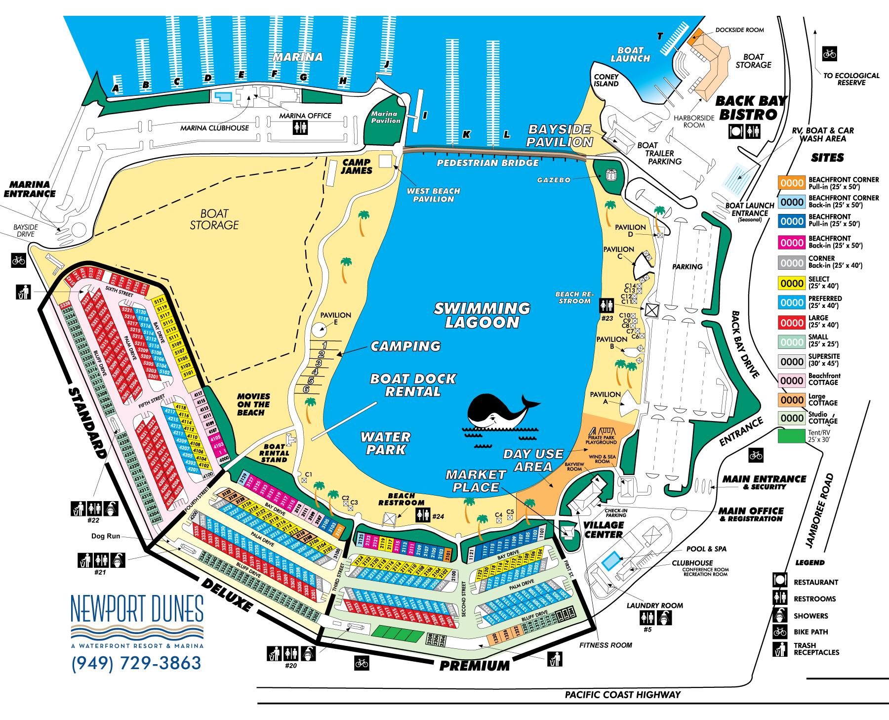 Newport Dunes Map Places To Visit Newport Dunes Beach