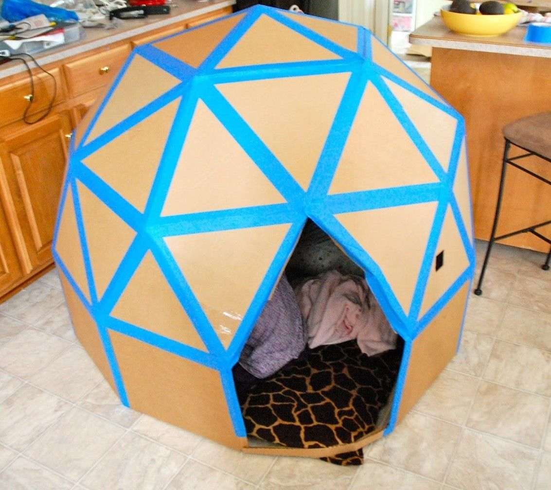 Put together the coolest cardboard box house ever for Things to make out of cardboard for kids