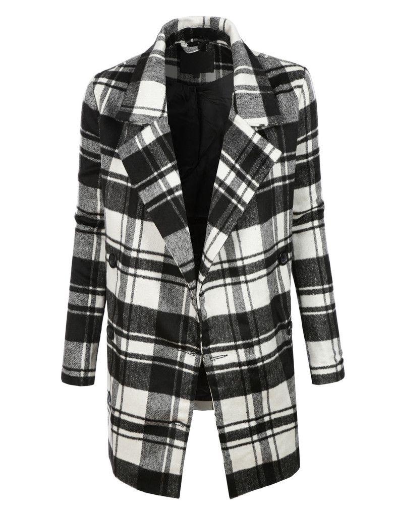 Womens plaid coats