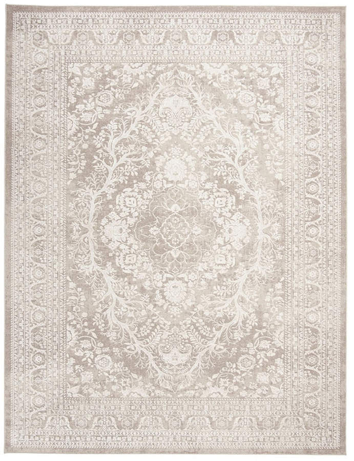 Safavieh Reflection Beige And Cream 9 X 12 Area Rug Floral Rug