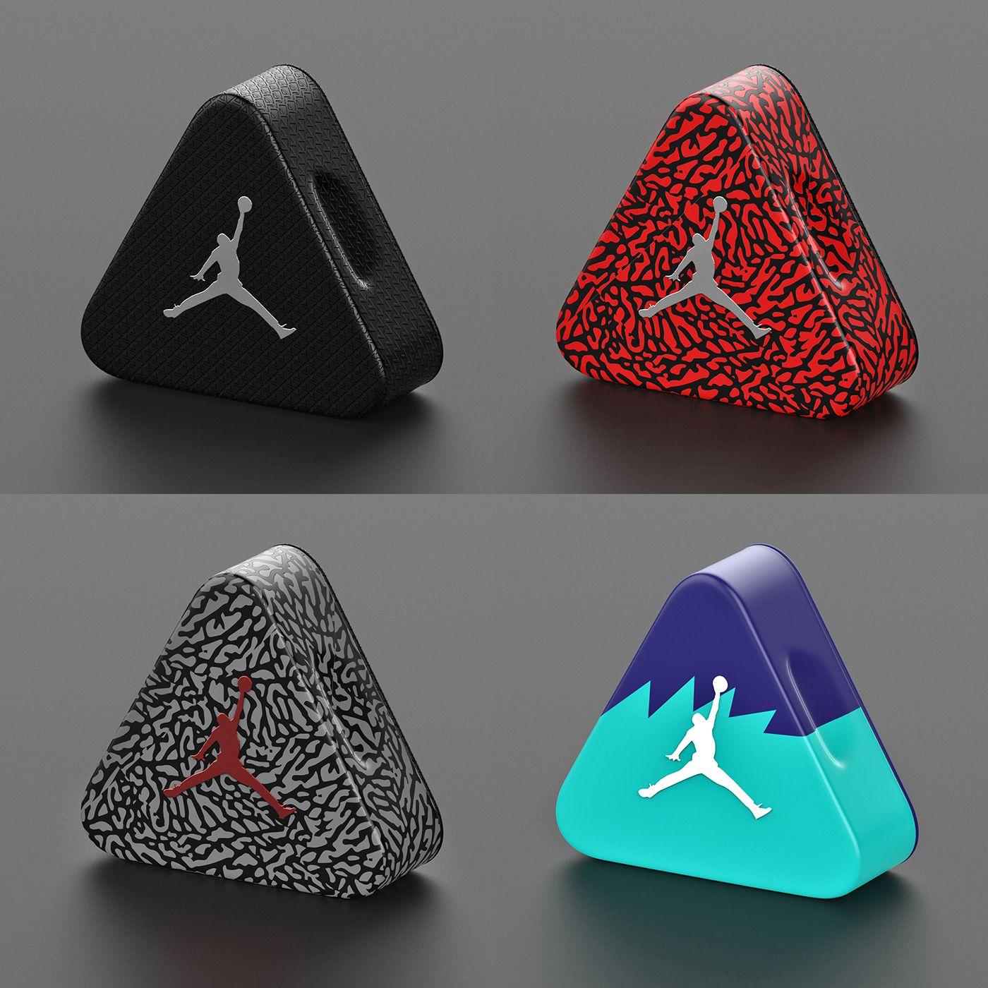 Air Jordan Triangle Aluminum Shoebox Concept Shoe Box Design Shoe Box Air Jordans