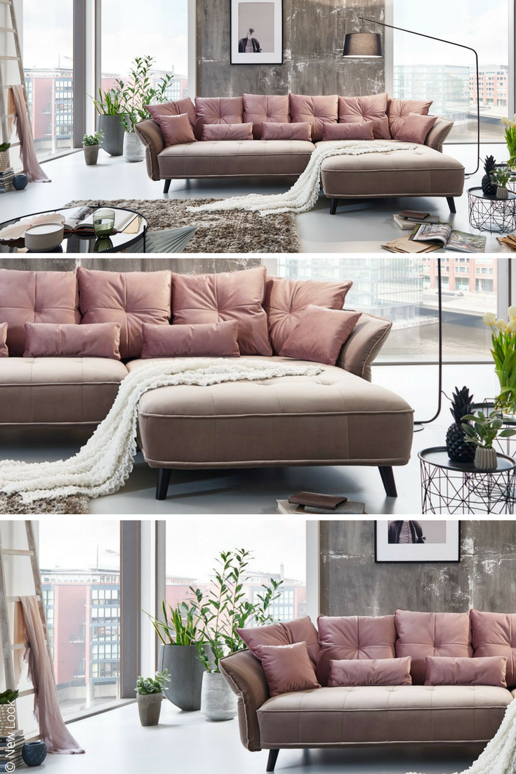 New Look Ecksofa Charming In Schickem Altrosa Moebelletz Rosa Sofa Online Mobel Rosa Sofa Bett Modern