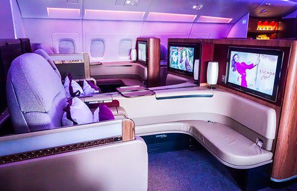 Qatar Airways A380 First Class Cabin Seat 2e Airplane Pinterest
