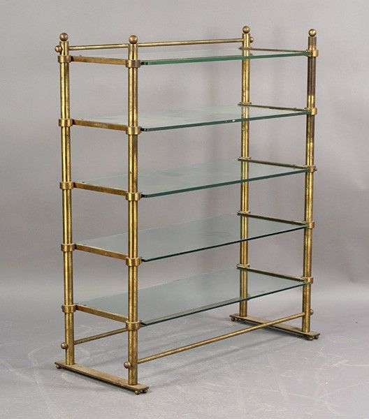 Brass & Glass shelves for kitchen dishes | decorating inspiration ...