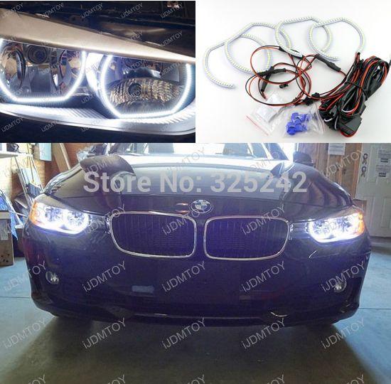 For BMW F30 F31 F34 3 Series Halogen Headlamps Excellent LED Angel