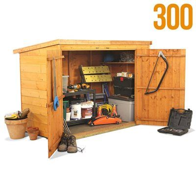 A mini shed for tools Cool things Id like Pinterest Tools