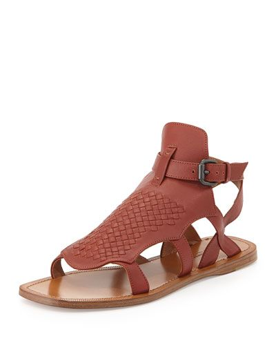 Bottega VenetaLeather Sandals p4Tm5pt