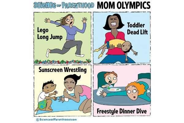 10 modalidades olímpicas que toda mãe merece medalha de ouro (para rir!)
