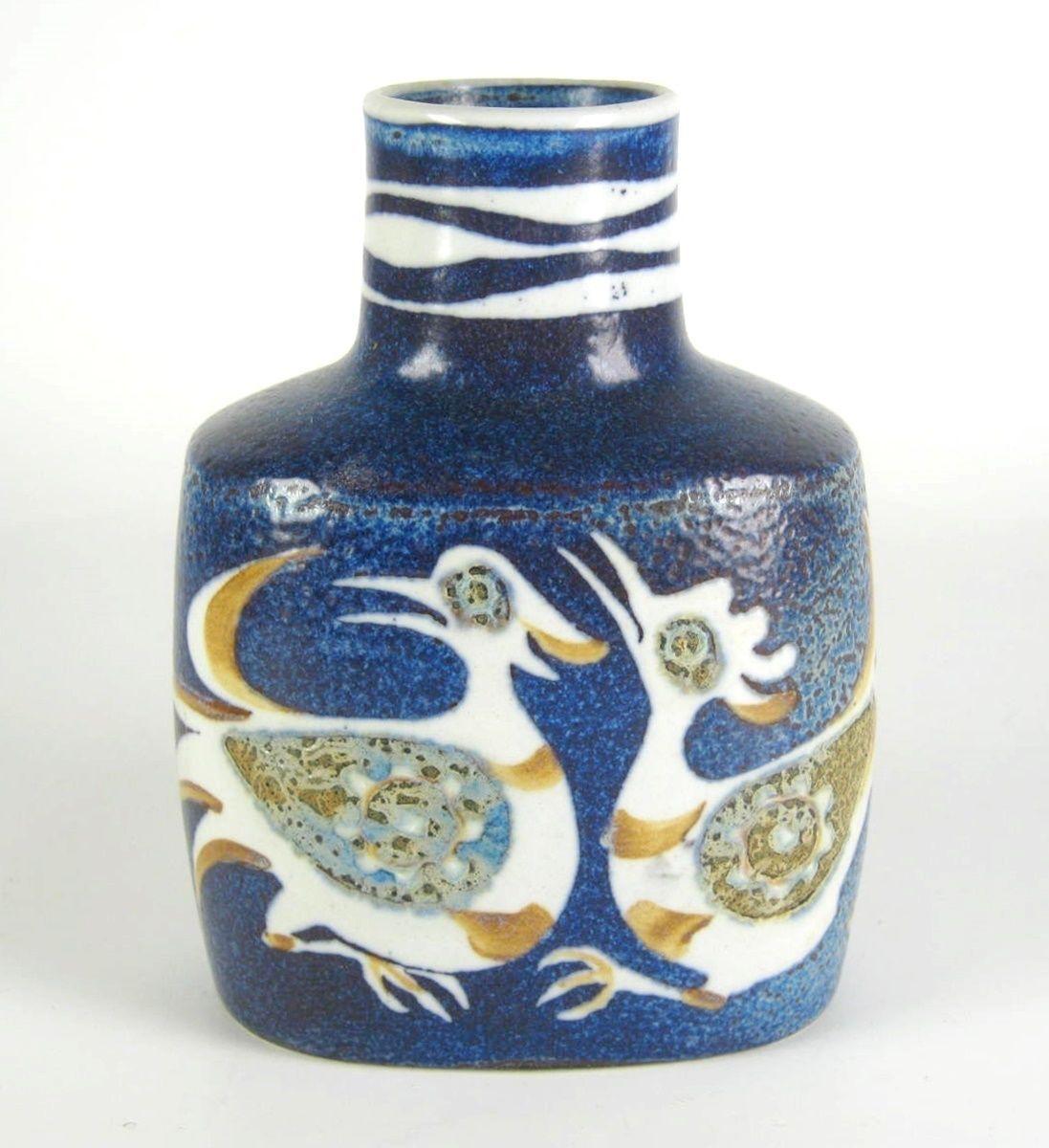 Royal Copenhagen Fajance Vase Nils Thorsson Design Pottery Vintage Denmark 13cm