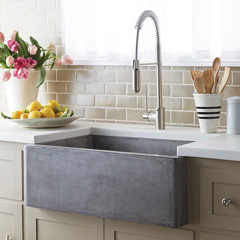 Farmhouse 30 Inch Apron Front Nativestone Kitchen Sink Farmhouse Sink Kitchen Stone Sink Kitchen Kitchen Flooring