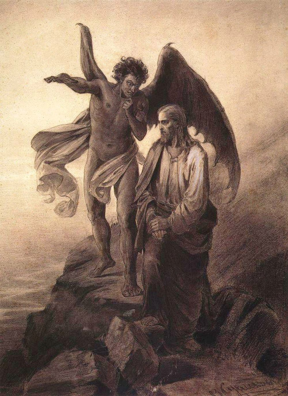 Tentación de Cristo. Vasily Surikov, 1872. http://iglesiadesatan.com/