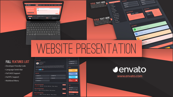 web site presentation websites envato videohive aftereffects