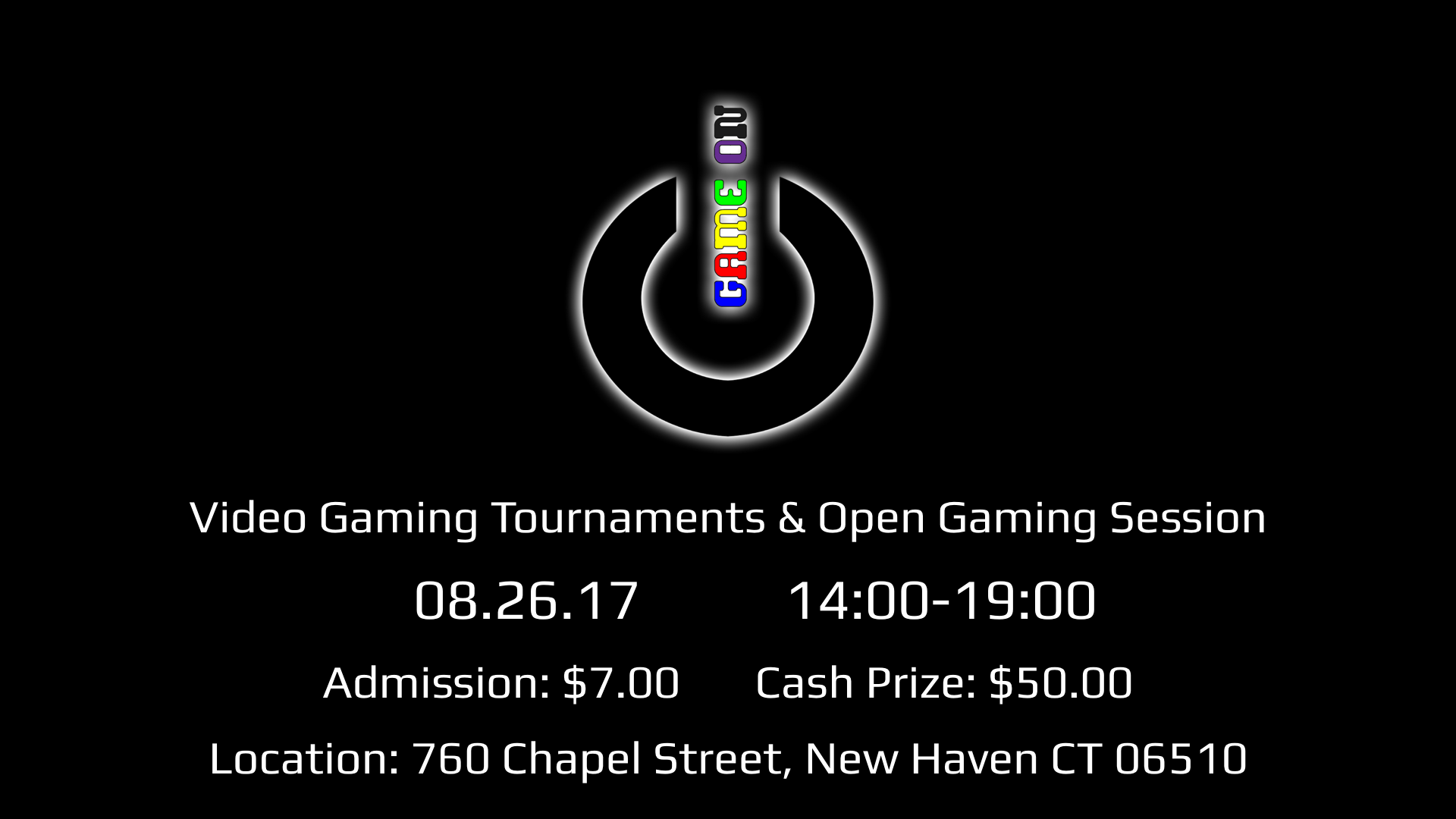 Video Game Tournaments & Open Gaming Session! Admission is