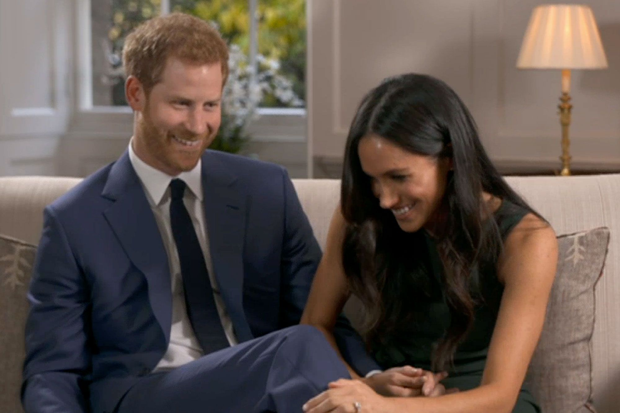 Meghan Markle And Prince Harry Giggle And Goof Off Behind The Scenes Of Engagement Interview Meghan Markle American Princess Prince Harry