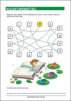 buchstabenrätsel - sprichwort - buchstabenspiele für kinder | abc lernen, vorschule, vorschulideen