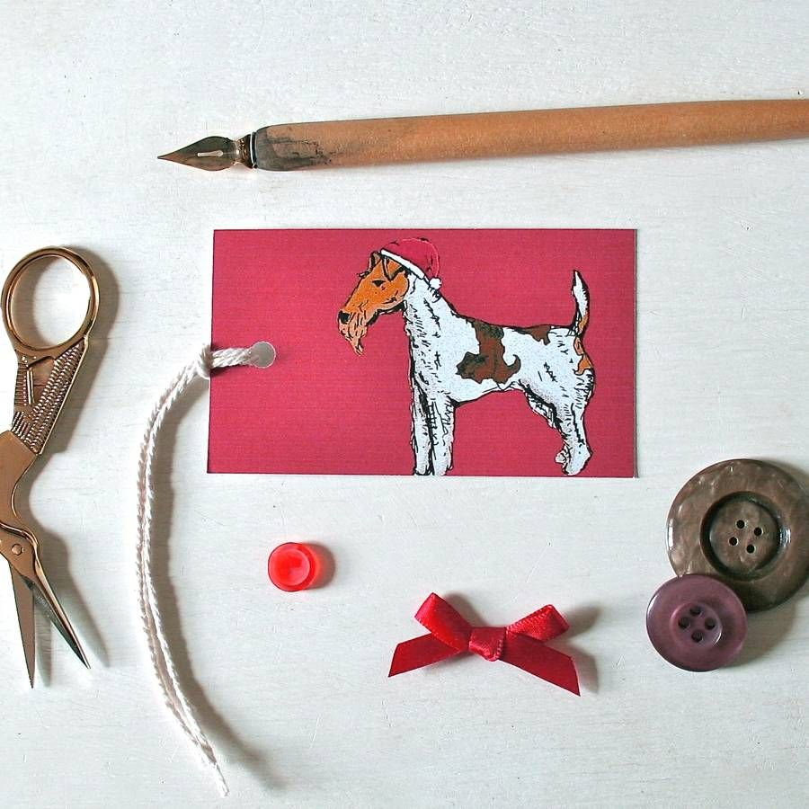 fox terrier dog christmas tags by goodnight boutique | notonthehighstreet.com