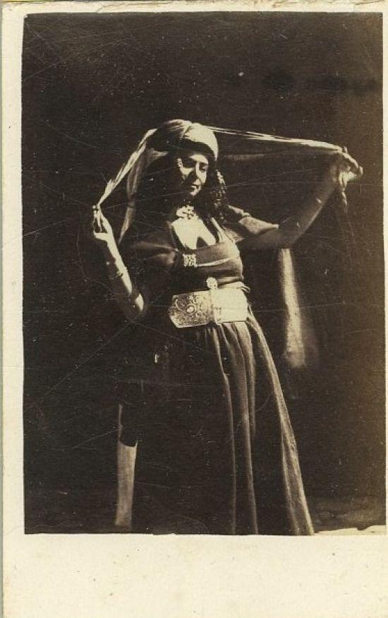 Disderi Algerie Portrait De Femme Vintage Albumen Carte Visite Pas Ti