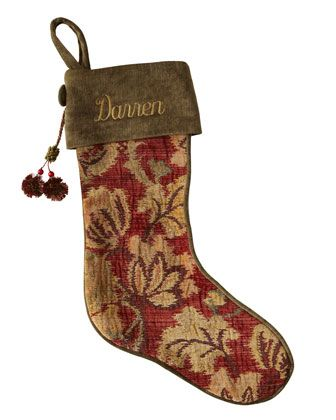 """ADORE! French Laundry Home """"Patchwork"""" Harvest & Paisley Christmas Stockings - Neiman Marcus"""