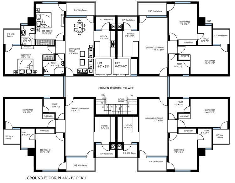 Image result for building flat plans Plano de planta de