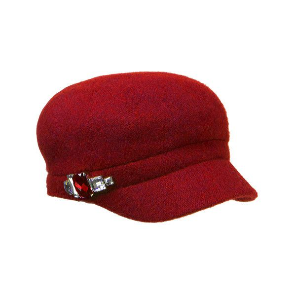 6814fc18c1288 Women s Betmar Rhinestone Cap 2 ( 32) ❤ liked on Polyvore featuring  accessories