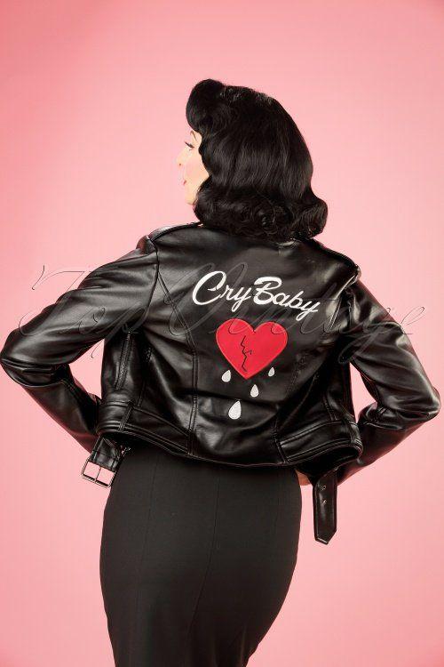 Collectif Clothing Kim Cry Baby Biker Jacket In Black 21713 20170609 3w Moda Ropa Estilo