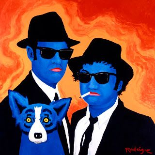 Musings of an Artist's Wife: My Blues Brothers artist George Rodrigue. Pictured: The Other Brother, 1997, acrylic on canvas by George Rodrigue