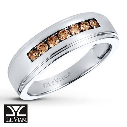 Le Vian Chocolate Diamonds Men S Ring In Vanilla Gold