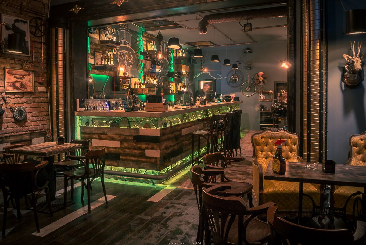 Steampunk Joben Bistro Pub Inspired By Jules Verneu0027s Fictional Stories In  Cluj By 6sense Architects