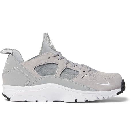 83da20043319ad Nike Air Huarache Low Suede and Mesh Sneakers