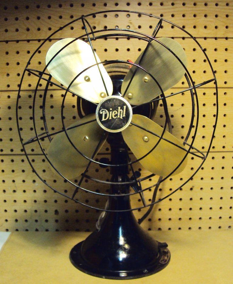 Vintage diehl cat k120121 3 speed brass blades electric