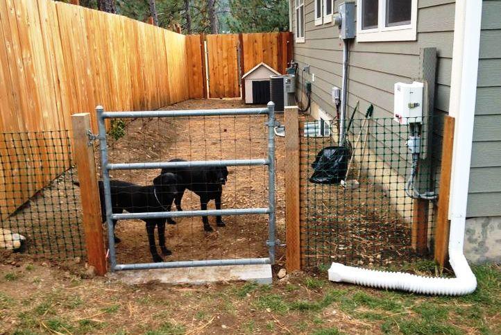 Side yard dog run | Dog backyard, Outdoor dog runs, Dog area