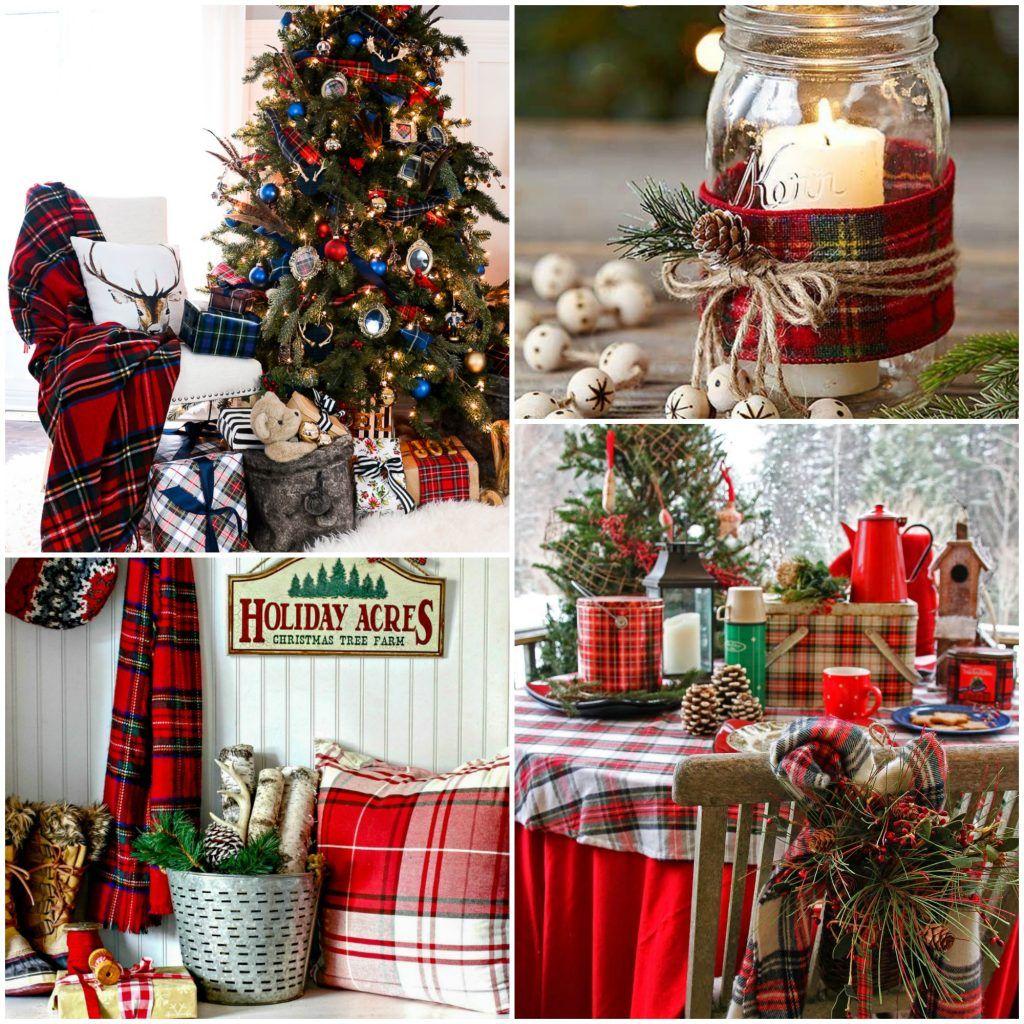 Plaid Christmas Tree Farmhouse Christmas Style Series Diys Christmas Dccor And Plaid