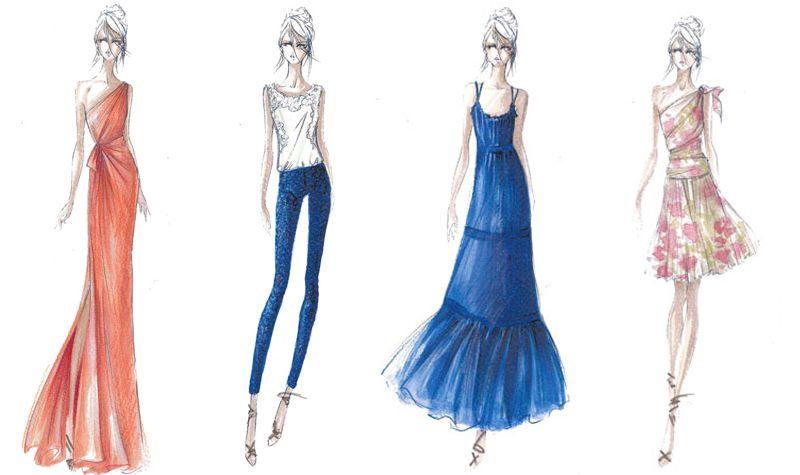 Desenhos De Roupas Femininas Estilistas Pesquisa Google