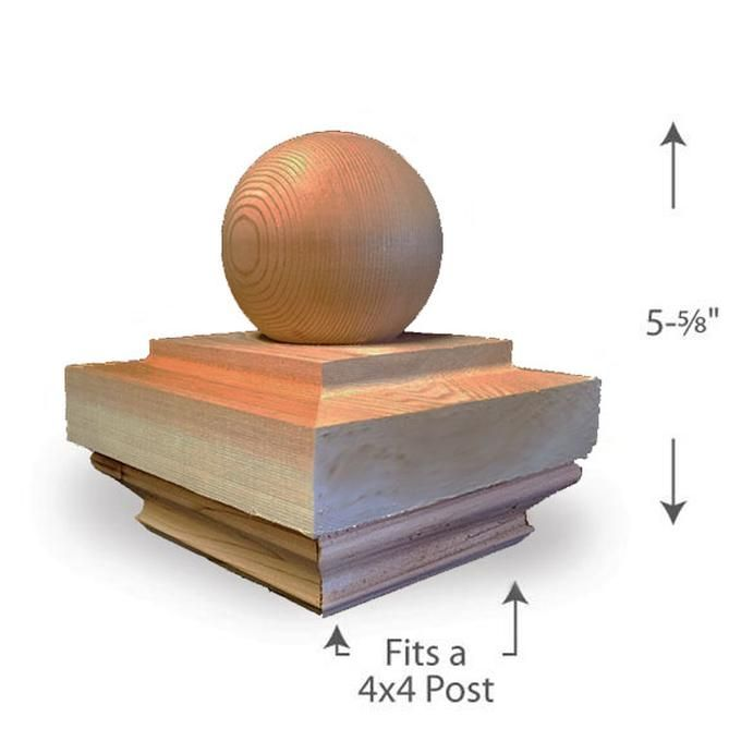 Best Ball Top Post Cap — 4X4 Post Cap 4X4 Porch Posts 400 x 300