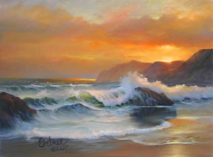 Joyce Ortner Paisaje Marino Del Artista Seascape Artists Ocean Painting Seascape