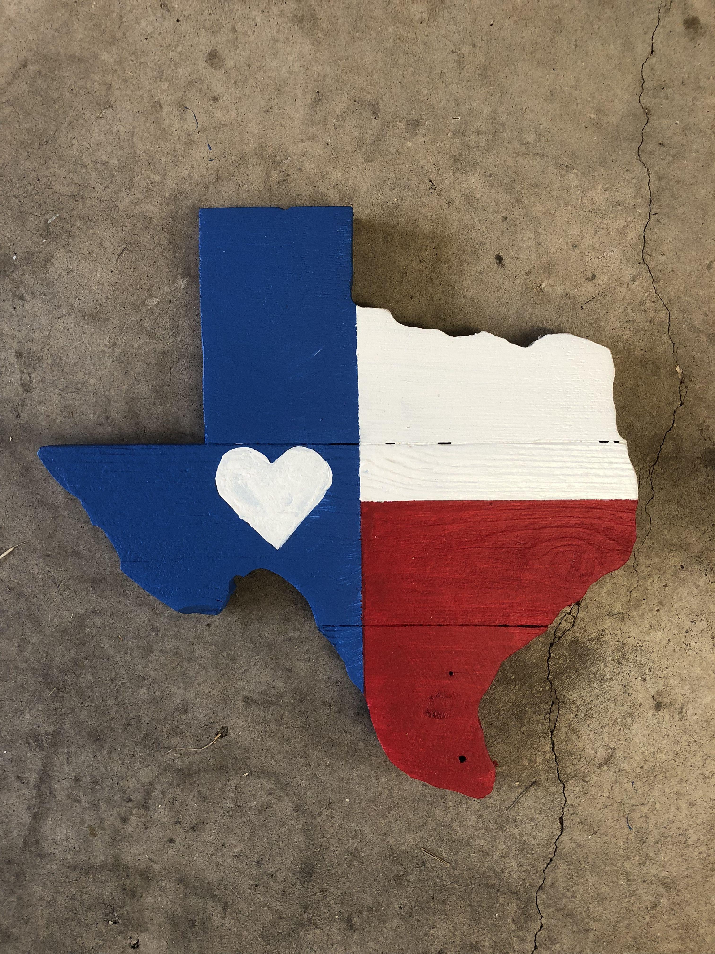 Texas Flag Heart Pallet Wood Wall Art Cool Pallet Ideas Wood